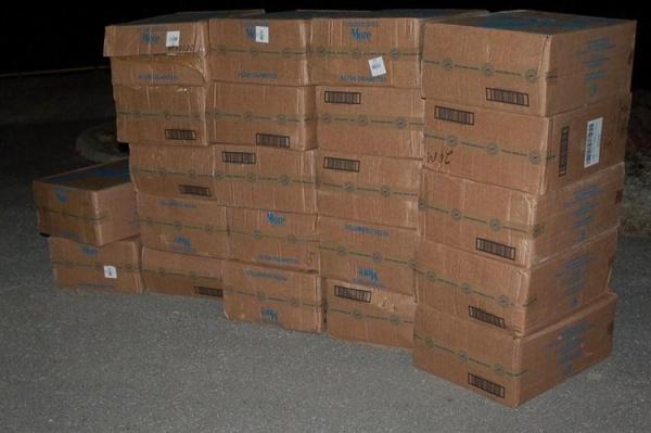 Пограничники кордона Нарва-Йыэсуу выловили 360 000 контрабандных сигарет