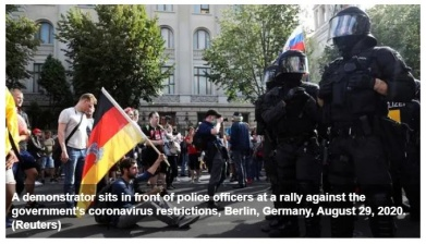 Полиция в Берлине разогнала акцию против COVID-ограничений