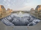 Интересная оптическая иллюзия в Лувре всего за один день была уничтожена публикой