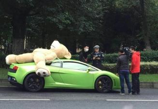 Китайский мажор везет подруге плюшевую игрушку