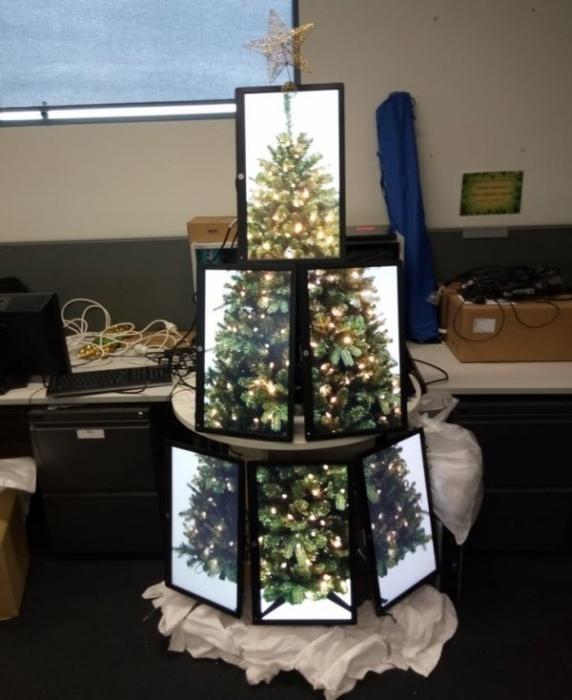 Праздничные елки от тех, кто встретит Новый год на работе