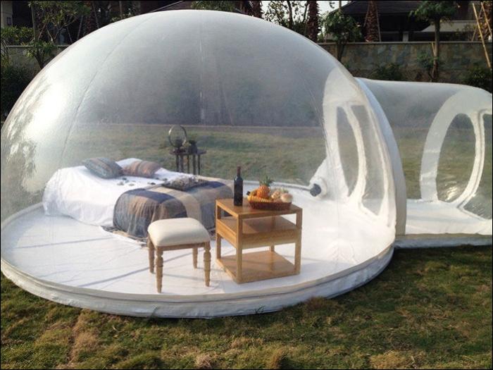 Прозрачная палатка для любования звездами