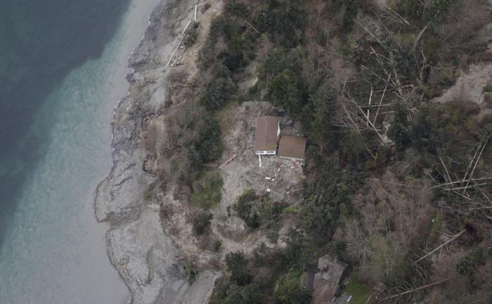 Чудовищный оползень на острове Уидби