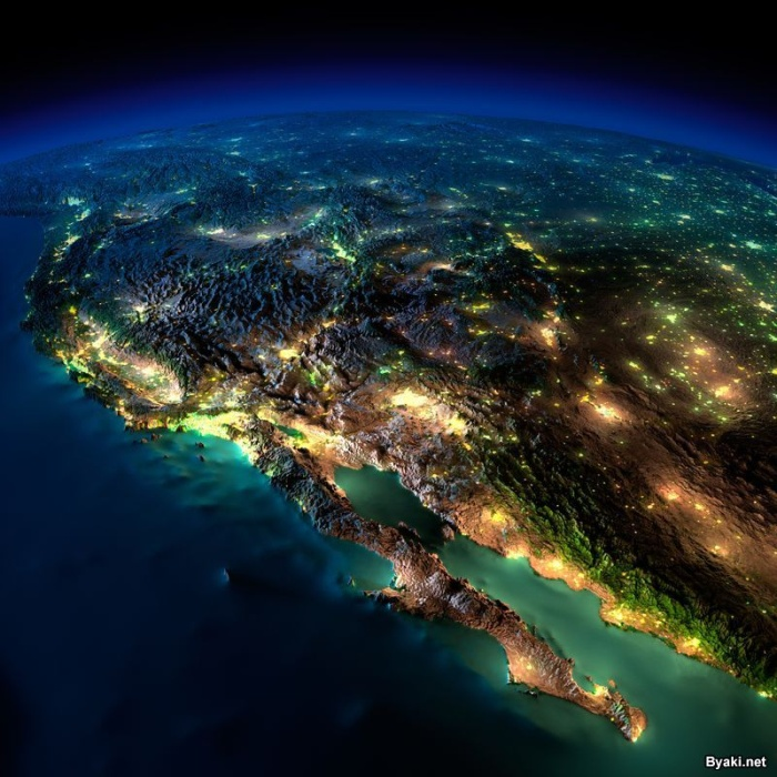 Земля ночью: потрясающие фото из космоса