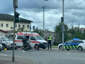 ДТП в Нарве: пострадал водитель мопеда
