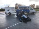 В Ийзаку представили разработанный эстонскими студентами гоночный электромобиль