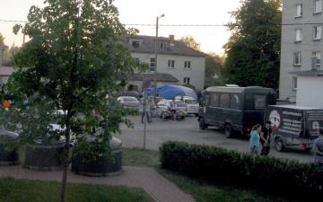 Кристийне между жилыми домами экстренно сел воздушный шар