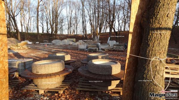 Возобновились работы по завершению второго этапа реконструкции Темного сада в Нарве
