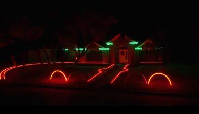Рождественское световое шоу американской семьи
