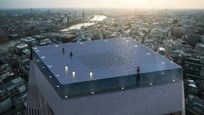 В Лондоне представили проект элитного бассейна на крыше небоскреба, но как до него добраться - непонятно