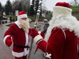 ФОТО: Дед Мороз и Санта-Клаус встретились в Нарве