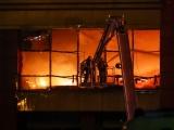 Пожар на строительном рынке в Подмосковье: пострадали два человека
