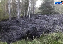 Природная аномалия на Урале: с горы Песчаная сошел гигантский оползень