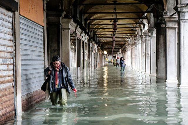 Венеция уходит под воду: затоплено более 80% города