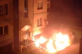 В Калининграде еще неостывший кузов сгоревшего авто сдали на металлолом