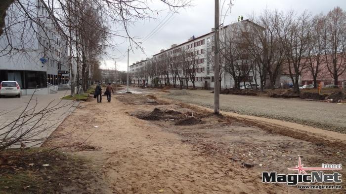 Капремонт улицы Пушкина в Нарве до конца 2013 года не завершат