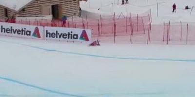 YouTube шокирован ВИДЕО жуткого падения горнолыжника на ЧМ в Санкт-Морице