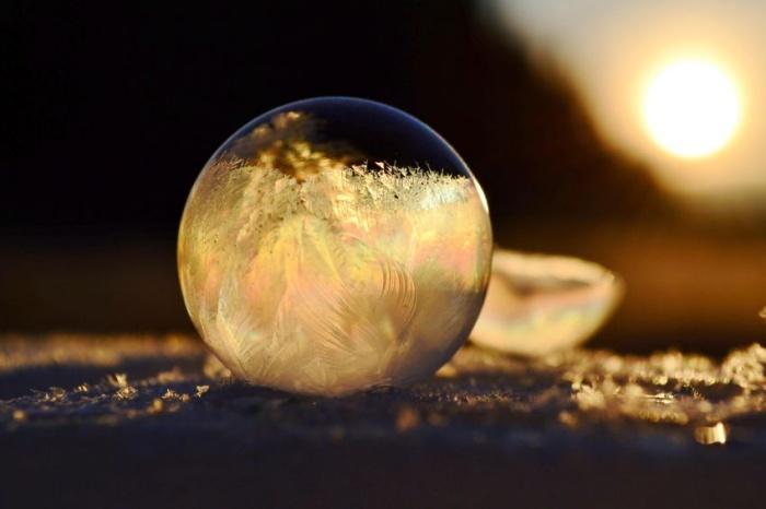 Замёрзшие мыльные пузыри