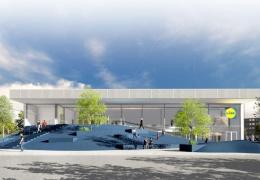 Архитекторы выбрали внешний вид для магазина Lidl в Нарве