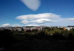 Необычные облака в небе над Камчаткой
