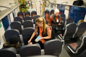 В новых поездах Elron должны появиться буфеты и кофейные аппараты