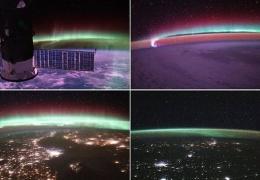 Астронавты на МКС показали, как выглядит полярное сияние из космоса