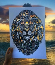 Потрясающие картины с палитрой природы вместо красок