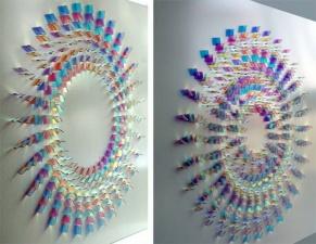 Разноцветные световые узоры из кусочков стекла