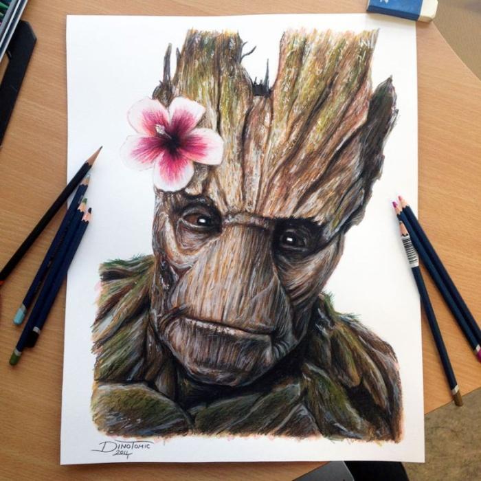 Реалистичные карандашные рисунки от тату-мастера