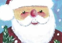 Угадайте, кто нарисовал этот милый рождественский рисунок?