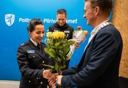 Следователь Нарвского отделения полиции Аида Зейналова получила премию от клуба Rotary