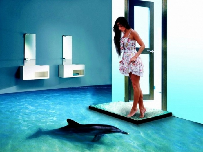 3D-полы — возможность превратить пол в океан