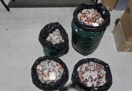 На границе в вагоне с селитрой обнаружили 1800 блоков сигарет