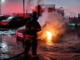 Электрокар Tesla Model S сгорел прямо на парковке сервисного центра