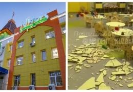Шесть дней простоял новый детский сад и начал разрушаться