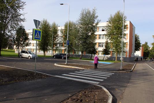 В Нарве открыли новую дорогу ведущую от Таллинского шоссе к Пяхклимяэской гимназии