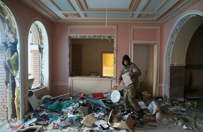 Особняк украинского генерального прокурора до и после мародеров