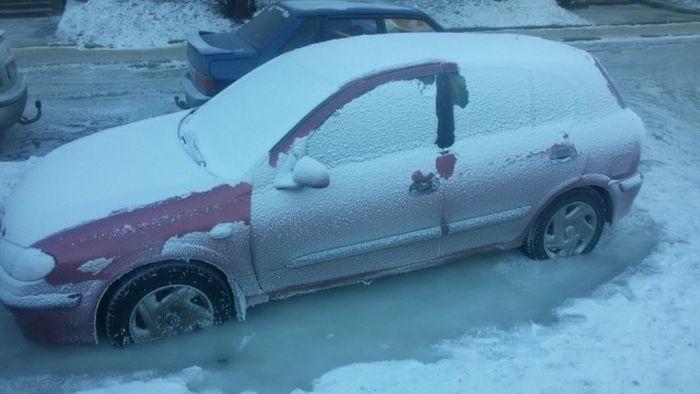 Nissan в ледяном плену