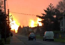 Жертвами взрыва газопровода в Польше стали три человека, загорелись несколько домов и лес