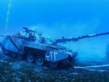 В Иораднии открыли подводный музей военной техники