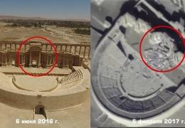 Новости Сирии сегодня: Минобороны опубликовало ФОТО и ВИДЕО взорванных ИГИЛ памятников Пальмиры