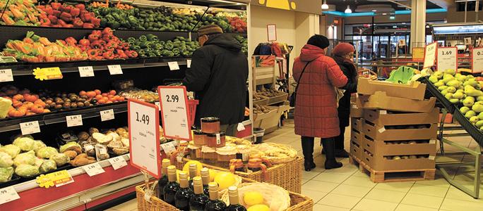 Оранжевая паприка стоит дороже 7 евро, цукини — по 9 евро