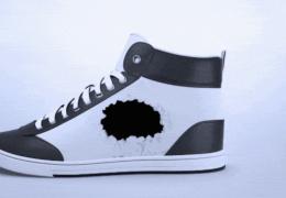 Кроссовки из электронной бумаги меняют свой внешний вид на ходу
