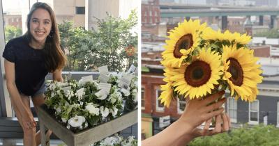 Врач собирает цветы на свадьбах незнакомцев, чтобы подарить их пациентам