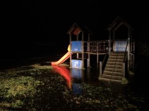 ERR в Нарва-Йыэсуу: уровень реки на критической отметке, затоплена прибрежная часть