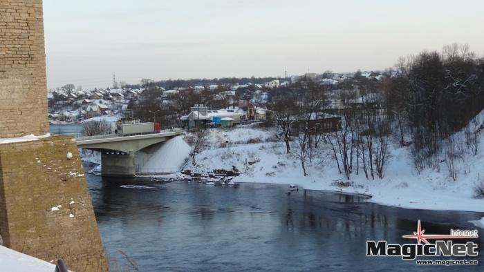 На эстонско-российской границе в Ивангороде вводятся послабления