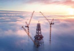 Высокое сооружение высотой 430 метров в Санкт-Петербурге