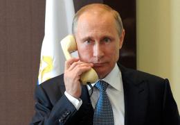 Путин поговорил по телефону с Меркель, Олландом и Порошенко
