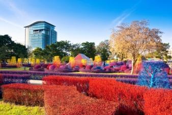 Красочный кампус университета Рангсит в Таиланде