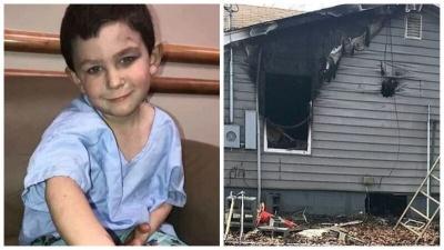 5-летний мальчик спас от пожара всю семью